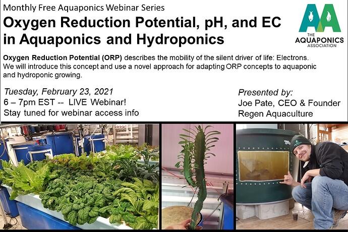 February Oxidation Reduction Webinar
