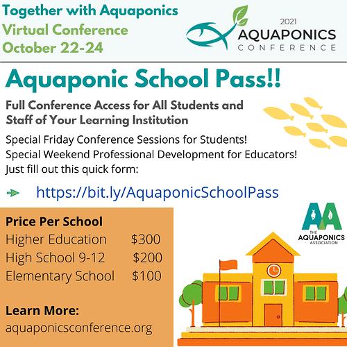 School Pass 2021 Aquaponics Conference